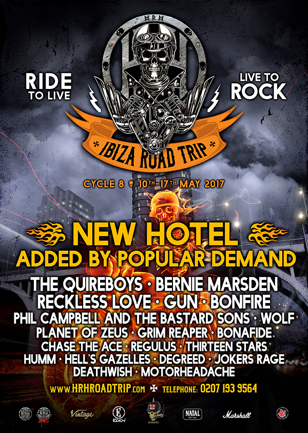 Bernie Marsden, Bonfire & Grim Reaper join the next HRH Road Trip to Ibiza